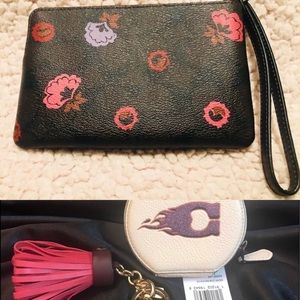 Coach Wristlet, Coin Purse and Keychain